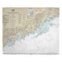 CT: North Shore of Long Island Sound, Stamford, Norwalk, CT Nautical Chart Blanket