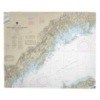CT-NY: North Shore of Long Island Sound, Greenwich Point, CT to New Rochelle, NY Nautical Chart Blanket