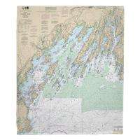 ME: Casco Bay, ME Nautical Chart Blanket
