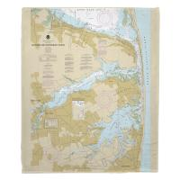 NJ: Navesink and Shrewsbury Rivers, Redbank, Rumson Neck, NJ Nautical Chart Blanket