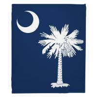 South Carolina Flag Blanket