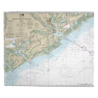 SC: Charleston Harbor and Approaches, SC Nautical Chart Blanket