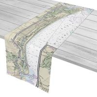 NC: Oak Island, NC Nautical Chart Table Runner