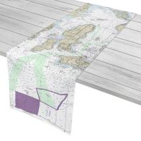 RI: Jamestown, RI Nautical Chart Table Runner