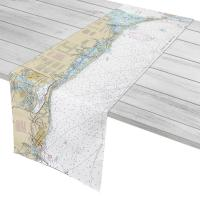 FL: Venice, Manasota Key, Gasparilla Island, FL Nautical Chart Table Runner