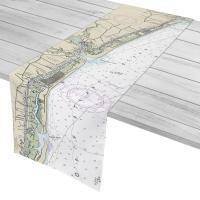 NC: Holden Beach, Ocean Isle Beach, NC Nautical Chart Table Runner