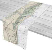 NC: Sunset Beach, Waties Island, Cherry Grove Beach, NC Nautical Chart Table Runner