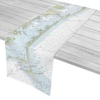NC: Core Banks, NC Nautical Chart Table Runner