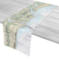 FL: Amelia Island to Atlantic Beach, FL Nautical Chart Table Runner