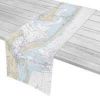 FL: Santa Rosa Island West, FL Nautical Chart Table Runner