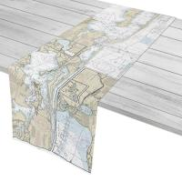 FL: Gulf Breeze to Perdido Key, FL Nautical Chart Table Runner