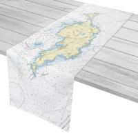 Anguilla, West Indies Nautical Chart Table Runner