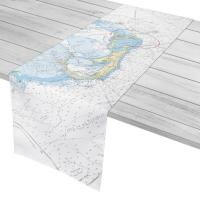 Bermuda Nautical Chart Table Runner