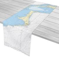 Grand Bahama Island, Bahamas Nautical Chart Table Runner
