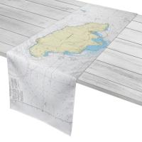 Jamaica, West Indies Nautical Chart Table Runner