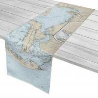 FL: Port Charlotte to Sanibel Island, FL Nautical Chart Table Runner