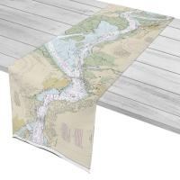 CA: Suisun Bay, CA Nautical Chart Table Runner