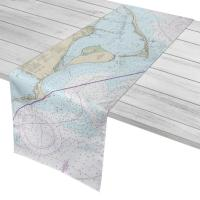 FL: Apalachicola Bay to Cape San Blas, FL Nautical Chart Table Runner
