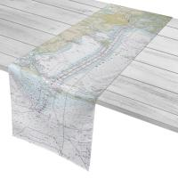 AL: Mobile Bay, AL Nautical Chart Table Runner