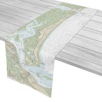 MA: Plum Island, MA Nautical Chart Table Runner
