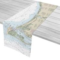 NC: Ocean Isle Beach to Bald Head Island, NC Nautical Chart Table Runner