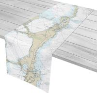 FL: Elliott Key, North Key Largo, FL Nautical Chart Table Runner