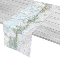 FL: Upper Matecumbe, Islamorada, Key Largo, FL Nautical Chart Table Runner