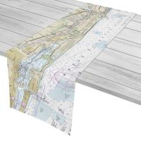 FL: Jupiter Inlet to Lake Worth Inlet, FL Nautical Chart Table Runner