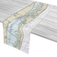 FL: Indian River Shores, Vero Beach, FL Nautical Chart Table Runner