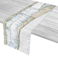 FL: Indialantic, FL Nautical Chart Table Runner