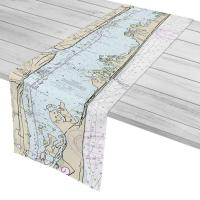 FL: Sebastian Inlet, FL Nautical Chart Table Runner