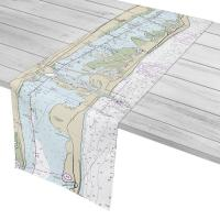 FL: Fort Pierce Inlet, FL Nautical Chart Table Runner