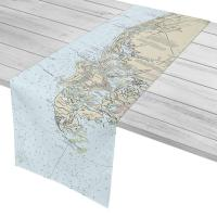 FL: Naples, Marco Island, Cape Romano, FL Nautical Chart Table Runner