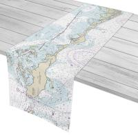 FL: Captiva Island, Cayo Costa, FL Nautical Chart Table Runner
