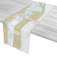 FL: Singer Island, Palm Beach, FL Nautical Chart Table Runner