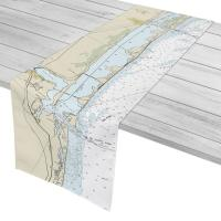 FL: Fort Pierce Inlet to St. Lucie Inlet, FL Nautical Chart Table Runner
