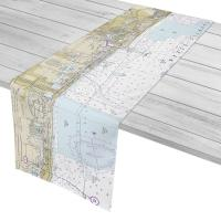FL: Fort Lauderdale to Golden Beach, FL Nautical Chart Table Runner