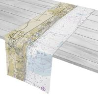 FL: Delray Beach, Boca Raton, FL Nautical Chart Table Runner