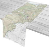 MA: Gloucester Harbor and Annisquam River, MA Nautical Chart Table Runner