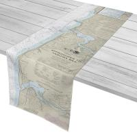 OR: Approaches to Yaquina Bay, OR II Nautical Chart Table Runner