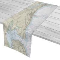 MS: Biloxi to Bay St. Louis, MS Nautical Chart Table Runner