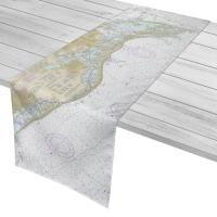 FL: Sand Key to Mullet Key, Boca Ciega Bay, FL Nautical Chart Table Runner