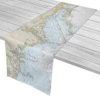 FL: Port Richey, Tarpon Springs, Clearwater Beach, FL Nautical Chart Table Runner