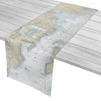RI: West Passage Narragansett Bay, RI Nautical Chart Table Runner