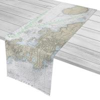 RI: East Passage Narragansett Bay, RI Nautical Chart Table Runner