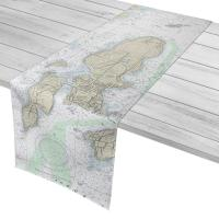 RI: Conanicut Island, RI Nautical Chart Table Runner