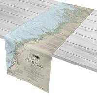 FL: Anclote Keys to Crystal River, FL Nautical Chart Table Runner