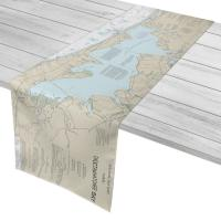 FL: Choctawhatchee Bay, FL Nautical Chart Table Runner