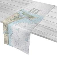 Bald Head Island, NC Chart & Logo Table Runner