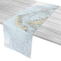 FL: Sanibel Island, FL Nautical Chart Table Runner